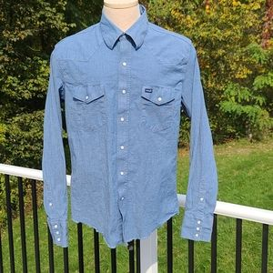 Like New Wrangler Pearl Snap Western Shirt